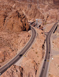 Highways hug the steep, narrow canyon