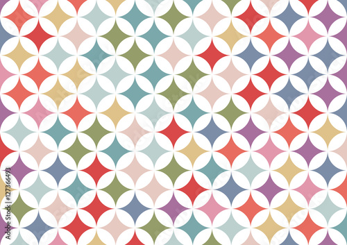 Colorful geometric circle background | abstract retro patterns wallpaper | texture design - 127366493