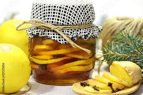 Poster miele con limone e zenzero - conserve