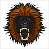 Gorilla head vector isolated