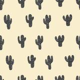seamless cactus pattern - 127388075