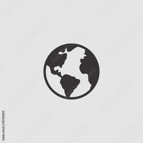 Fototapeta globe icon illustration