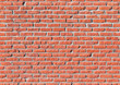 Red brick wall, seamless texture