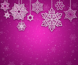 Christmas background image with white snowflakes