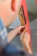 Locksmith repairing a lock