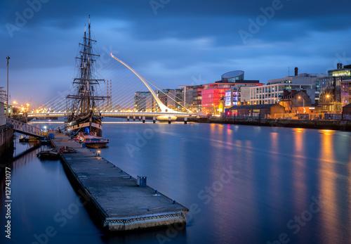 Poster River Liffey Dublin Ireland Europe