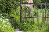 old rusty turnstile