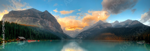 Tuinposter Blauw Banff National Park panorama
