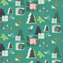 Święta na wesoło Uroczysty Seamless Pattern wyposażony białym śniegu texture__