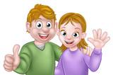 Young Cartoon Couple