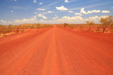 Dirt road across the Pilbara in Australian outback