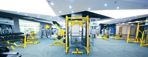 equipment in modern gym