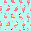 Beautiful seamless pattern with pink flamingo - 127479400