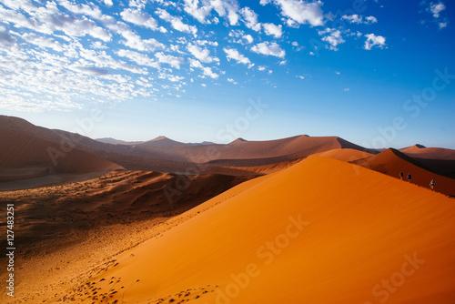 Poster Düne 45 bei Sonnenaufgang, Sossusvlei, Namibia