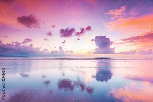 Papiers peints Mer coucher du soleil Sunset over sea on Bali