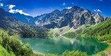 Stunning sunrise at lake in the Tatra Mountains in summer - 127508057