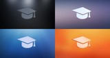 Animated Education 3d Icon Loop Modules for edit with alpha matte