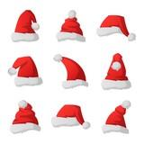 Santa christmas hat vector illustration.