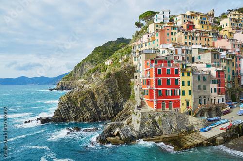 Poster Scenic view of Riomaggiore, Cinque Terre, Liguria, Italy