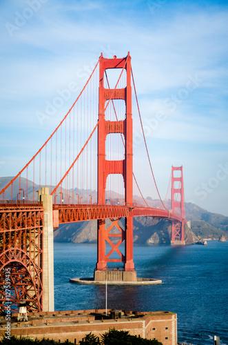 Plakát, Obraz Golden Gate Bridge in San Francisco California in the morning