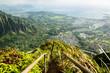 Stairway to Heaven in Oahu island Hawaii