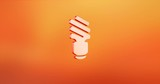 Animated Save Bulb Red 3d Icon Loop Modules for edit with alpha matte