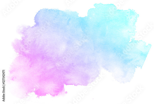 Abstract pink watercolor on white background.This is watercolor splash.It is drawn by hand. - 127542471