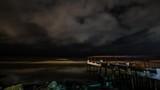Seashore at night surreal scary nigthmare Tmelapse