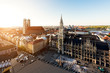 Leinwanddruck Bild - Aerial view on Munich old town hall in Germany.