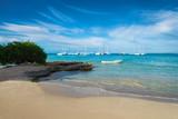 boats on caribbean sea