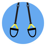 TRX flat icon emblem