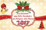 Les deseamos Feliz Navidad y Feliz Año Nuevo - tarjeta de felicitación de invierno corporativa