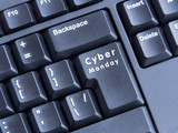 keyboard labeled Cyber Monday