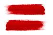 Red brush stroke isolated on grunge background