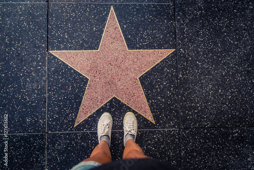 Poster Star on Walk of Fame, Hollywood