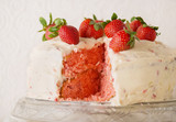 Strawberry Cake on White