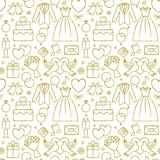 Wedding hand drawn seamless pattern background 3 - 127640480