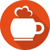Горячая кружка иконка плоский дизайн