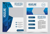Brochure template, Flyer design,  blue color abstract vector bac