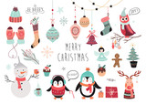 Christmas elements collection (vector design)