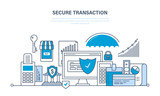 Secure transactions and payments, guarantee security of financial deposits