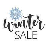 Winter sale hand written inscription - 127663863