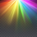 Fototapety Rainbow glare spectrum with gay pride colors vector illustration