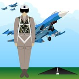 Military Uniform Force pilot