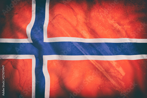 Poster Norway flag