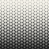 Abstract geometric black and white graphic design print halftone triangle pattern - 127686483