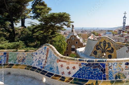 Papiers peints Barcelona The Park Guell in Barcelona - Spain.
