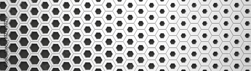 White wide hexagon background