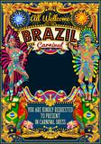 Fototapety Rio Carnaval festival poster illustration. Brazil night Show Carnival Party Parade masquerade invitation card template. Latin dance event with samba or salsa dancer theme. Carnival mask vector symbol