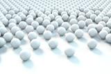 Grafika trójwymiarowa - białe kule